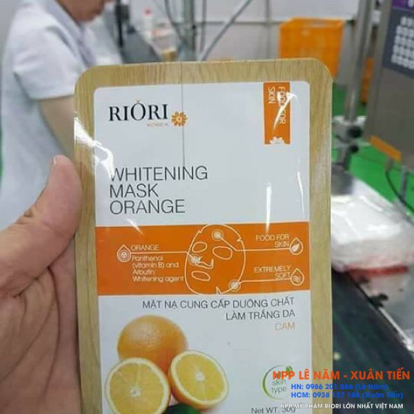 Mat na tinh chat cam cellulose Riori Mask Orange