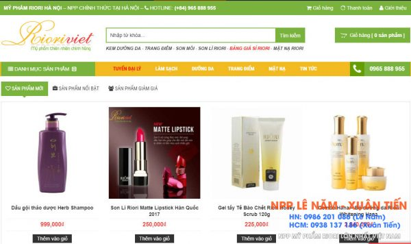 Riori Viet Website chinh thuc Riori uy tin