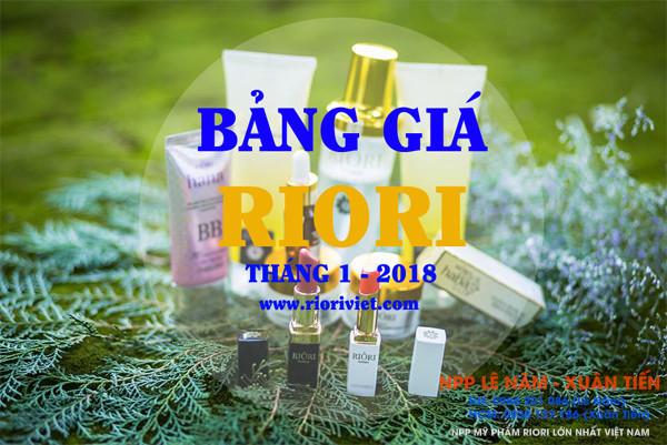 Bang gia Riori thang 1-2018