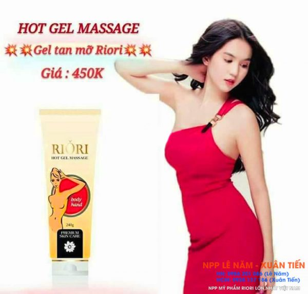 Hot gel massage riori - Gel tan mo bung riori hieu qua