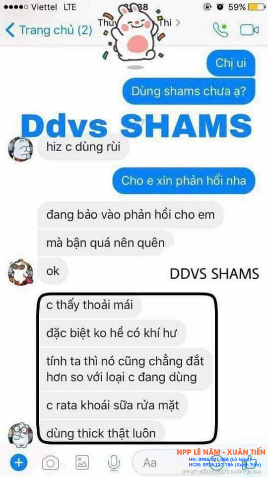 Review dung dich ve sinh Shams 1