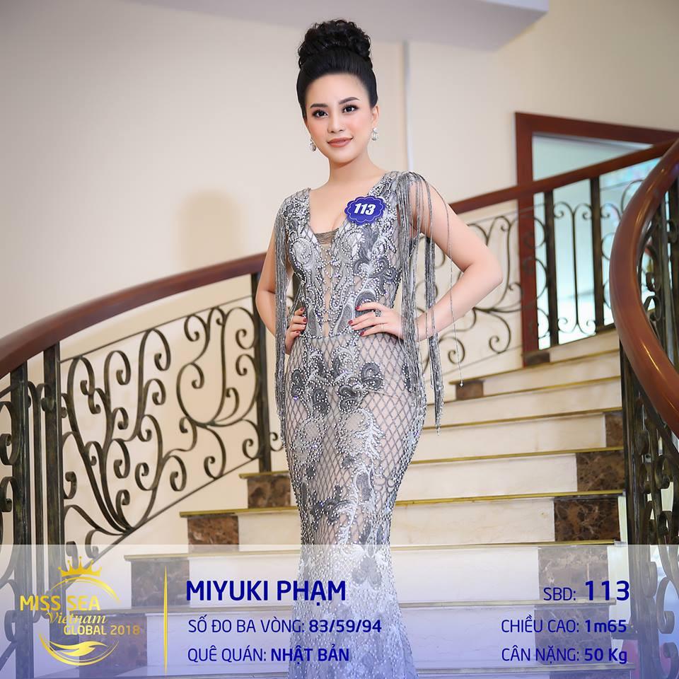 Riori bình chon Phạm Miyuki Hoa hậu biển 2018