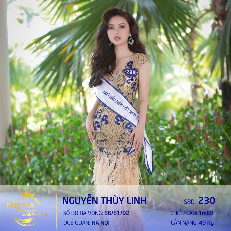 Riori bình chon Thùy LinhHoa hậu biển 2018